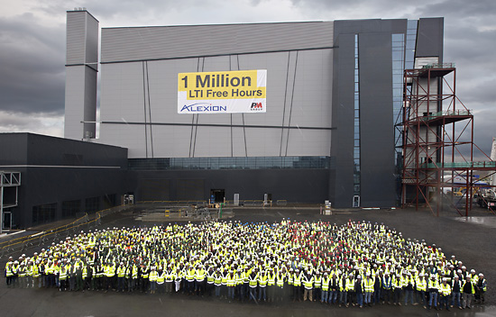 Workers outside 5 Alexion Pharmaceuticals Dublin