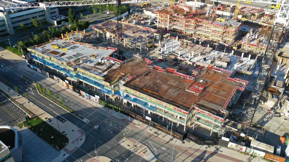 Cherrywood town centre construction site